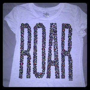 "Justice tee shirt. ""Roar"""